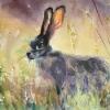 Purple Hare|Watercolour|22x16