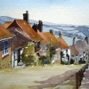 Gold- Hill- Shaftsbury-Watercolour-12x16-inches