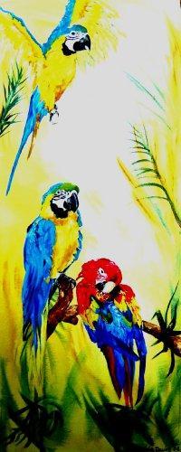 Parrots-Acrylic