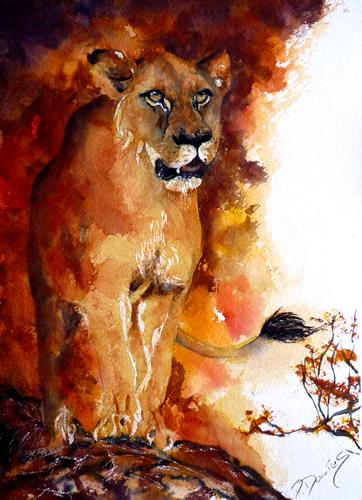 Fierce heat | Watercolour | 18x22 inches