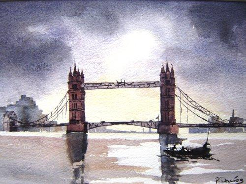 London-Bridge-Watercolour-12-x-16-inches