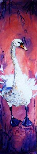 Swanning Around | Acrylic on Canvas | 12x47 inches